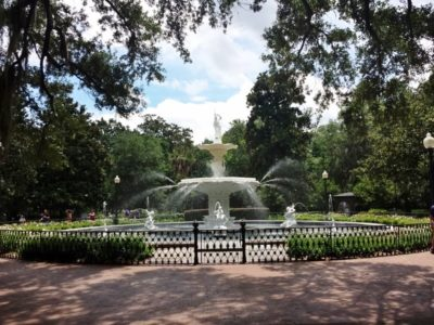 Savannah's unique architectural legacy and verdant public squares provide the settings for all my novels.